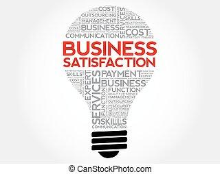 soddisfazione, bulbo, parola, affari, nuvola