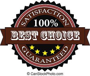 soddisfazione, guaranteed, distintivo