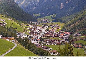 Soelden resort in Otztal, Tirol, Austria