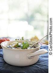 soep, tortilla, mexicaanse , verticaal
