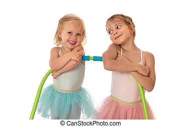 soeurs, deux, Gymnastes