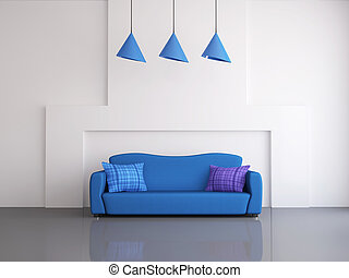sofà blu