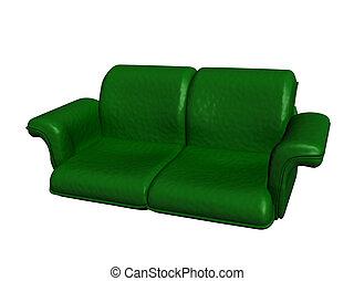 sofá, 3d