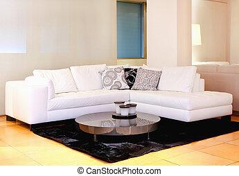 sofá, branca
