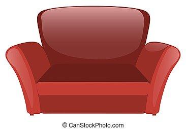 sofá, branco vermelho, fundo