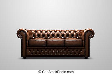 sofá, chesterfield