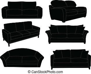 sofá, colección