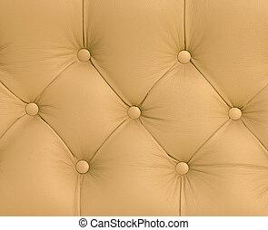 sofá couro marrom, textura, closeup, fundo, vindima