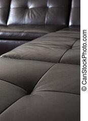 sofá couro, pretas