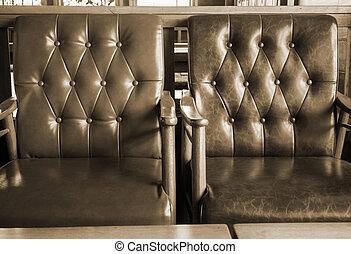 sofá couro, sala, vivendo