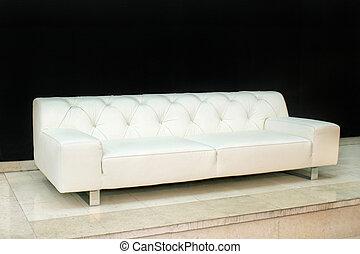 sofá de cuero, ángulo