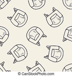 sofá, doodle