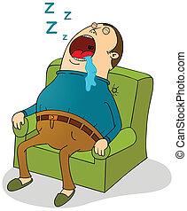 sofá, dormir
