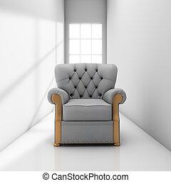 sofá, en, pasillo