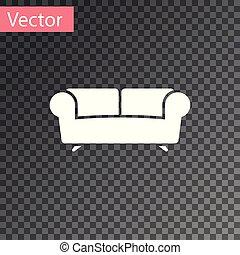 sofá, isolado, ilustração, experiência., vetorial, branca, transparente, ícone