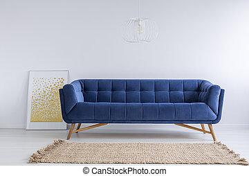 sofá, sala, tapete