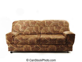 sofá, sofá, isolado