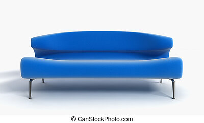 sofa 3D rendering - 3D rendering of the blue sofa