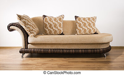 A sofa isolated on a white background
