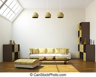 Sofa and a shelf