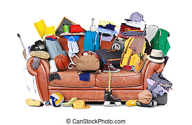 Sofa and mess