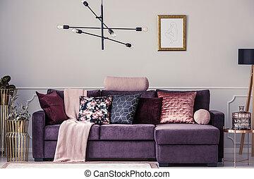 Sofa and pillows