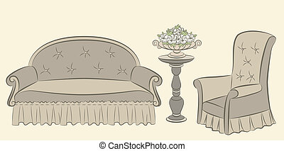sofa, arm-chair