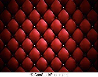 sofa, arrière-plan rouge