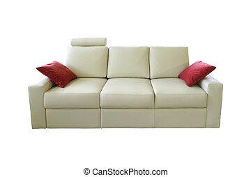 sofa, biały