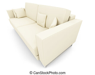 sofa, blanc, sur