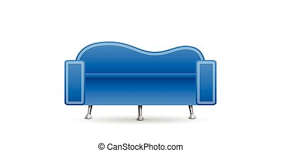 sofa bleu