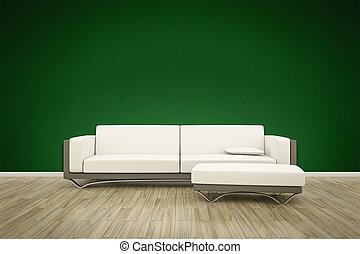 sofa, boden, hintergrund