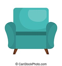Sofa chair furniture isolated flat icon.