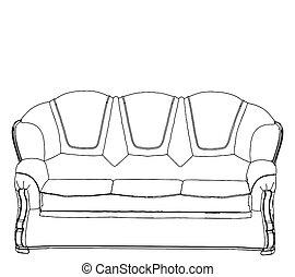 sofa, classique