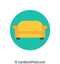 Sofa couch illustration