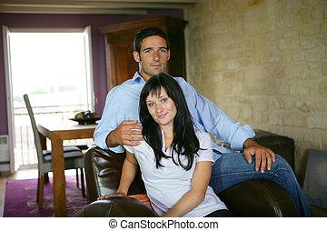 sofa, couple
