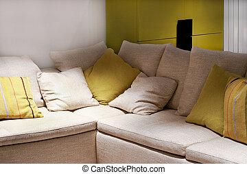sofa, détail