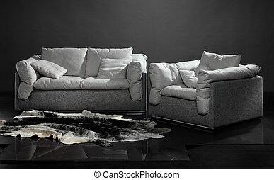 sofa, fauteuil
