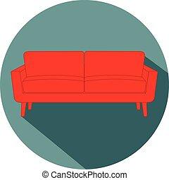 Sofa flat design icon vector eps 10