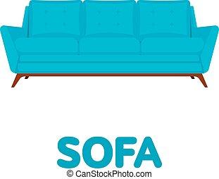 sofa flat design vector illustration