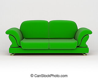 sofa, fond blanc