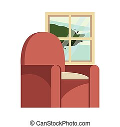 sofa, forniture, livingroom, fenêtre