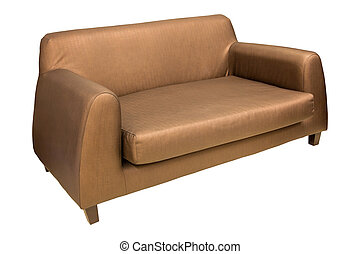 sofa furniture isolated on white with clipping path