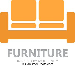 Sofa furniture logo or symbol icon - Vector logo design...