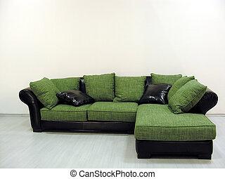 sofa, grün