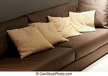 sofa, hoofdkussens