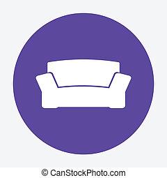 sofa, icône