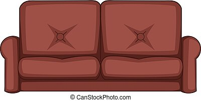 Sofa icon, cartoon style