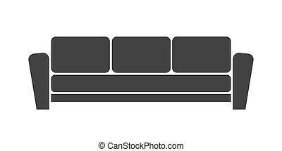 Sofa icon on white background. Modern, simple flat vector...