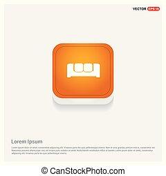 Sofa Icon Orange Abstract Web Button